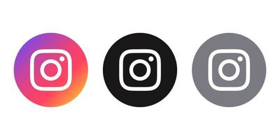 social media icon Instagram logo different styles vector