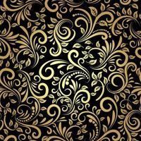 patrón dorado sin costuras vector