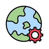 Earth Settings Icon vector