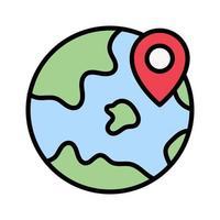 Earth Location Icon vector