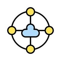 Shared Cloud Icon vector