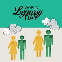 Vector illustration of a Background for World Leprosy Day