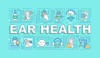 Ear health word concepts banner vector