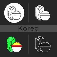 Kimchi dark theme icon vector