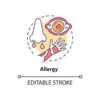 Allergy concept icon vector