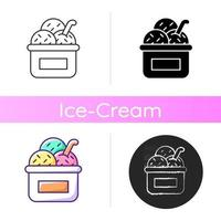 Ice cream in cup icon vector