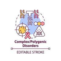 Polygenic disorders concept icon vector