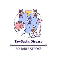 Tay sachs disease concept icon vector