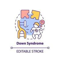 Down syndrome concept icon vector