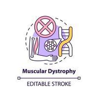 icono de concepto de distrofia muscular vector