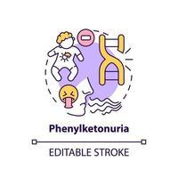 Phenylketonuria concept icon vector