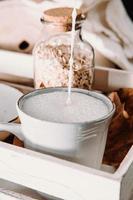 Cup of oat milk photo