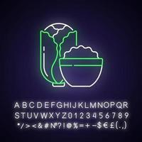 Kimchi neon light icon vector