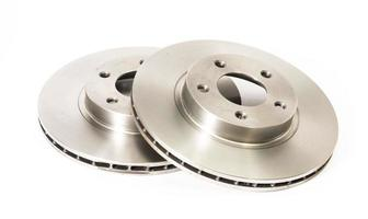 Two new brake discs for a car photo
