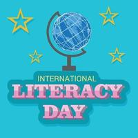 Vector illustration of a Background for International Literacy Day