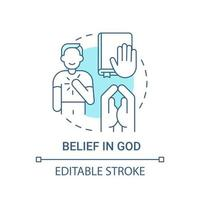 Belief in God concept icon vector