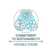 Commitment to sustainability concept icon vector