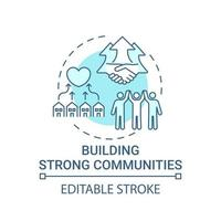 Building strong communities concept icon vector
