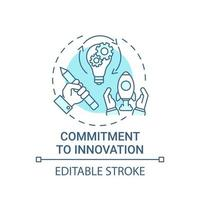 Commitment to innovation concept icon vector