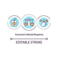 Consumers mental response concept icon vector