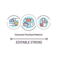 Consumer purchase patterns concept icon vector