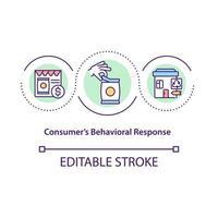 Consumers behavioral response concept icon vector