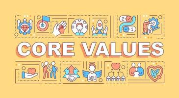 Core values word concepts banner vector