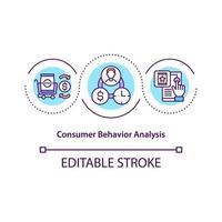 Consumer behavior analysis concept icon vector