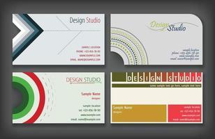 diseño de tarjetas de visita vector