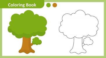 Coloring Book Tree vector