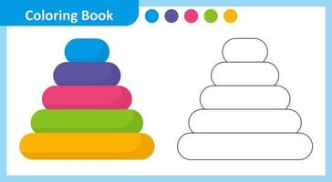Coloring Book Pyramids vector
