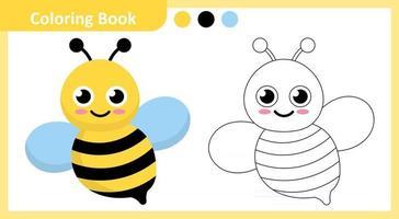 Coloring Book Bee vector