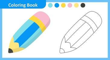 Coloring Book Pencil vector