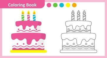 Coloring Book Cake vector