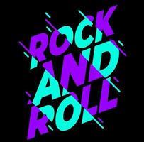 rock n roll typography vector