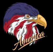 eagle head american vector