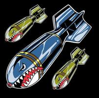 vector de bomba de tiburon