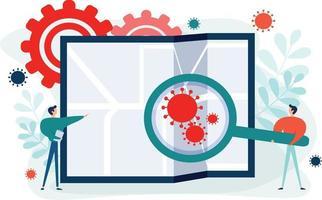2019nCoV Coronavirus tracking concept vector