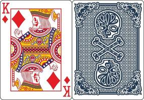 Exclusive Skeleton Poker Playing Cards vector