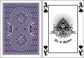 skull with spades playing card vector