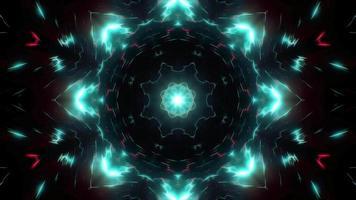 Lumière cyan clignotante kaléidoscope lumière video