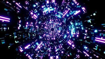 boucle de rotation du tunnel de la technologie scifi numérique 4k video
