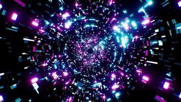 boucle de tunnel de technologie scifi numérique 4k video