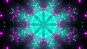 kaléidoscope de lumière violette brume cyan video