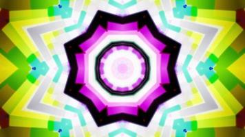 w loop de fundo de caleidoscópio colorido 4k video