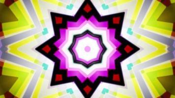 Loop de fundo de caleidoscópio colorido lento 4k video