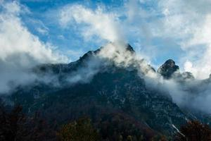 clouds and mountains photo
