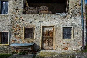 barn door with chicken coop photo