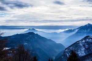 fog in the alpine valleys photo