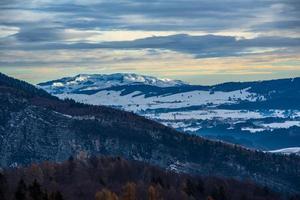 snowy autumn landscapes photo